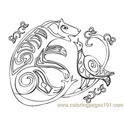 Celtic081 coloring page