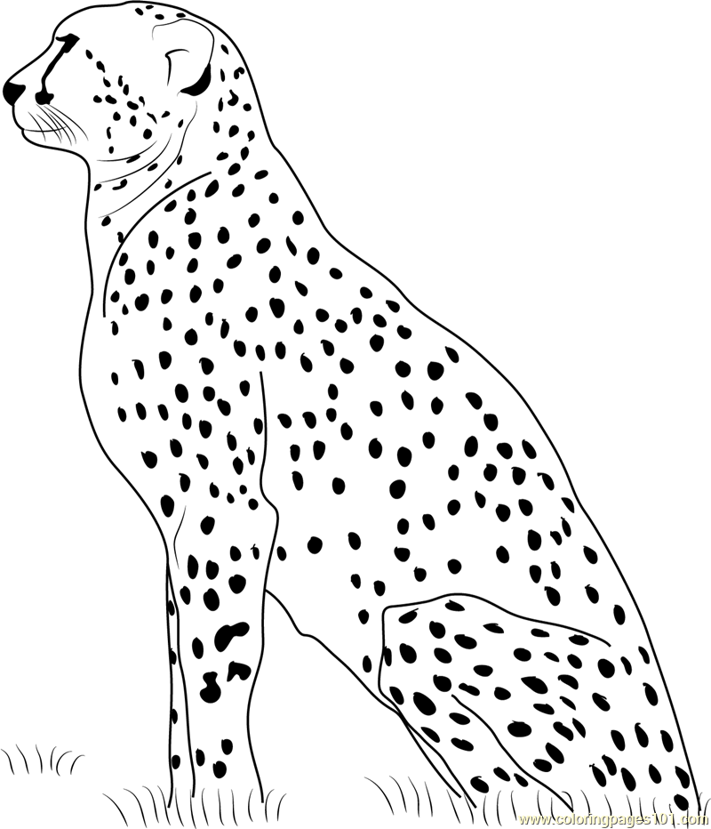 Resting Coloring Pages