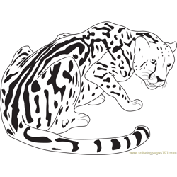 King Cheetah Free Coloring Page for Kids