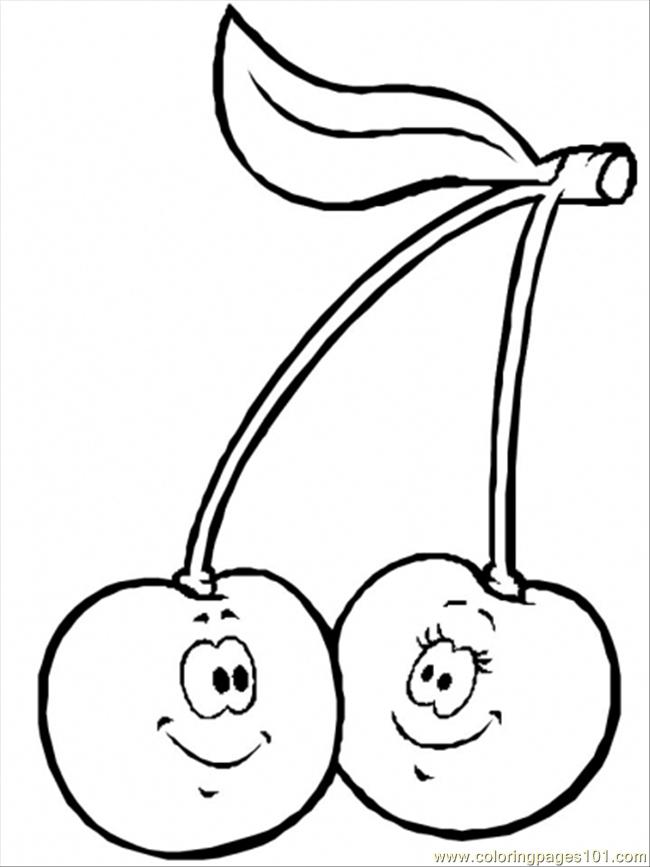 Normal Cherries2 Coloring Page