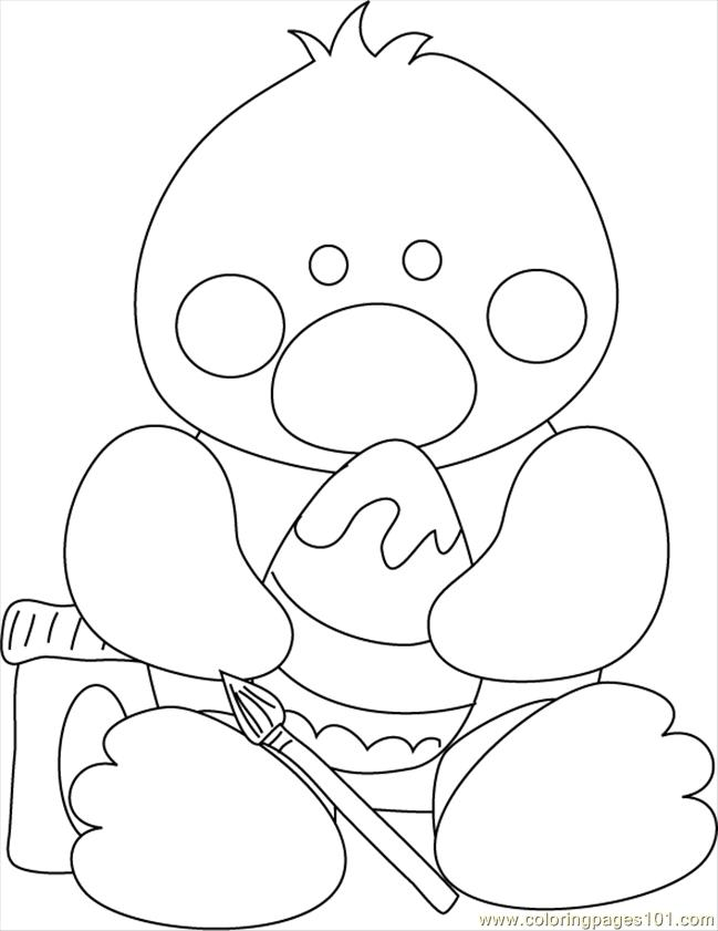 Easter Chick Coloring Page - Free Chick Coloring Pages ...