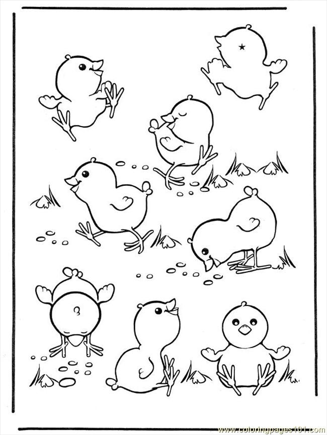 Ng Pages Easter Chicken Coloring Page Free Chick Coloring Pages