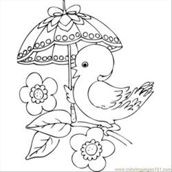 64 Chick With Fancy Umbrella