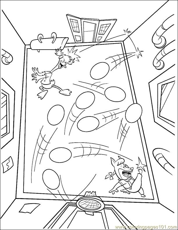 001 Chicken Little 38 Coloring Page