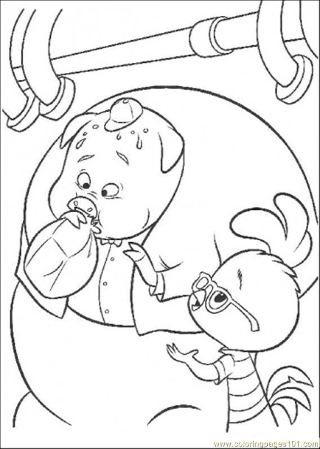 Runt Blows The Plastic Coloring Page