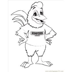 Scooter Chicken Coloring Page
