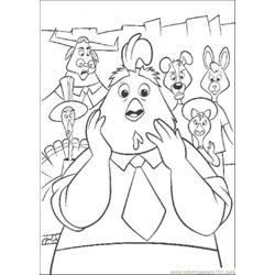 No One Want To Believe Chicken Littles Story Free Coloring Page for Kids