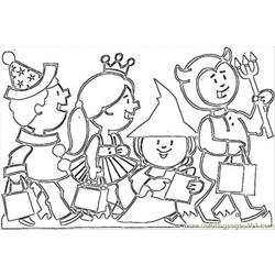 S On Halloween Coloring Pages