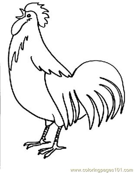 Desi Chicken Calling Coloring Page