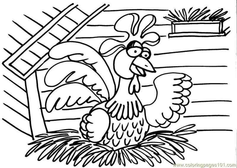 Jungli Hens Coloring Page