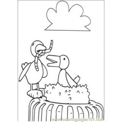 The birdseat worm Free Coloring Page for Kids