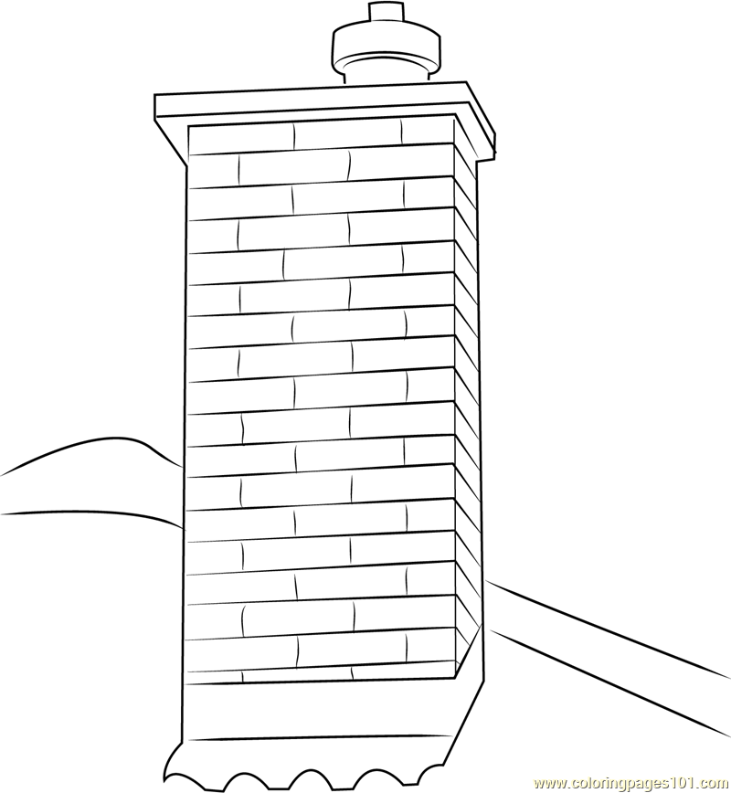 Chimney Coloring Page Free Chimney Coloring Pages
