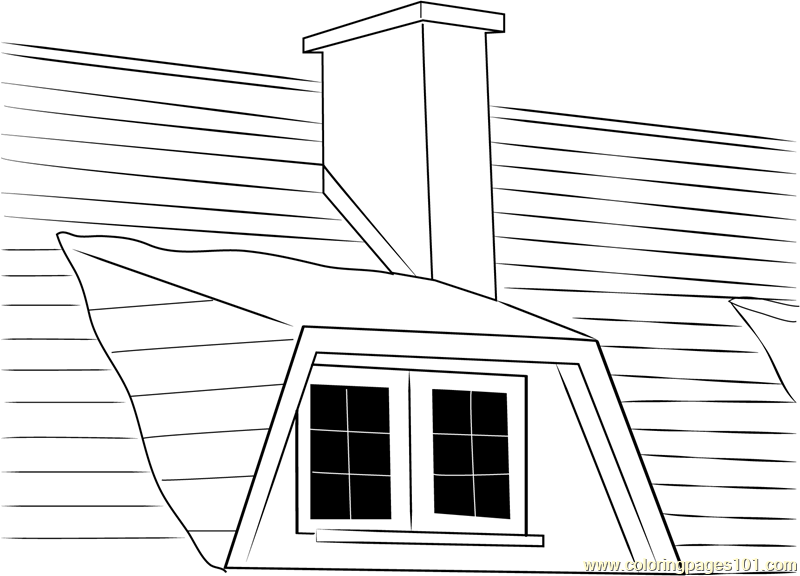 Household Chimney Coloring Page