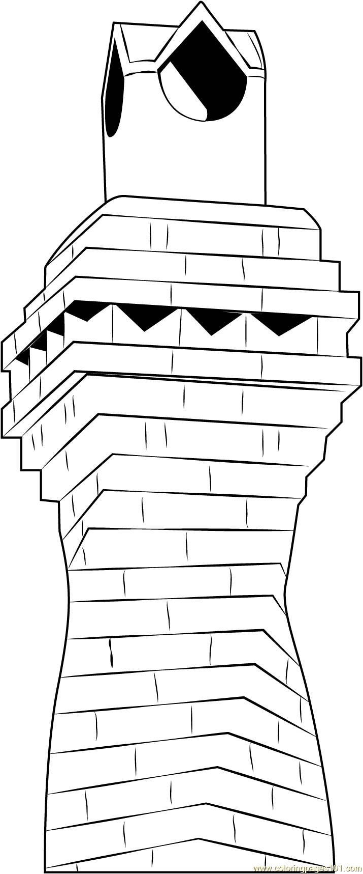 Metal with Chase Chimney Coloring Page