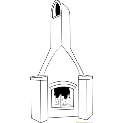 Cooking Chimney Free Coloring Page for Kids