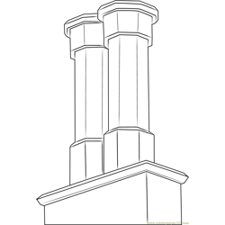 Industrial Chimney coloring page