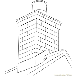Masonry Chimney coloring page