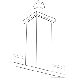 Singal Chimney Cap coloring page