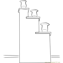 Unique Chimney coloring page