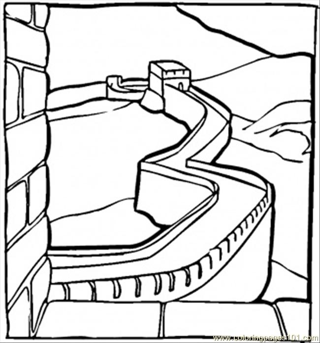 Great Chinese Wall Coloring Page