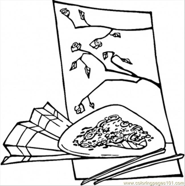 Chinese Food Coloring Page