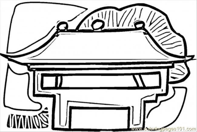 Chinese House Coloring Page