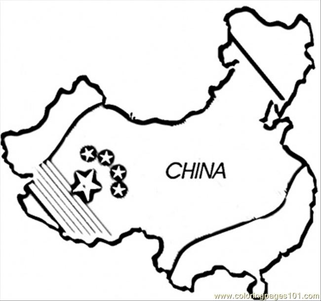 Chinese Map Coloring Page