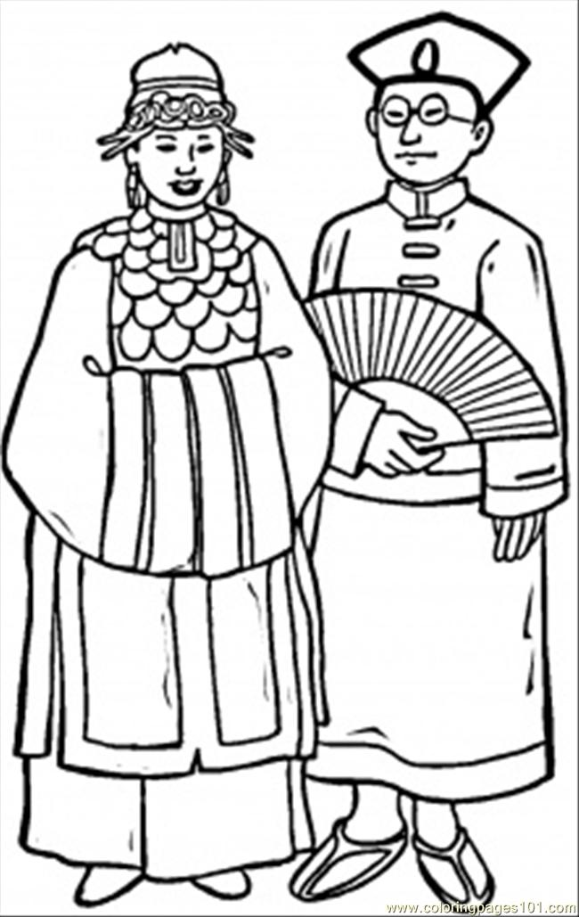 Chinese Wedding Coloring Page  Free China Coloring Pages