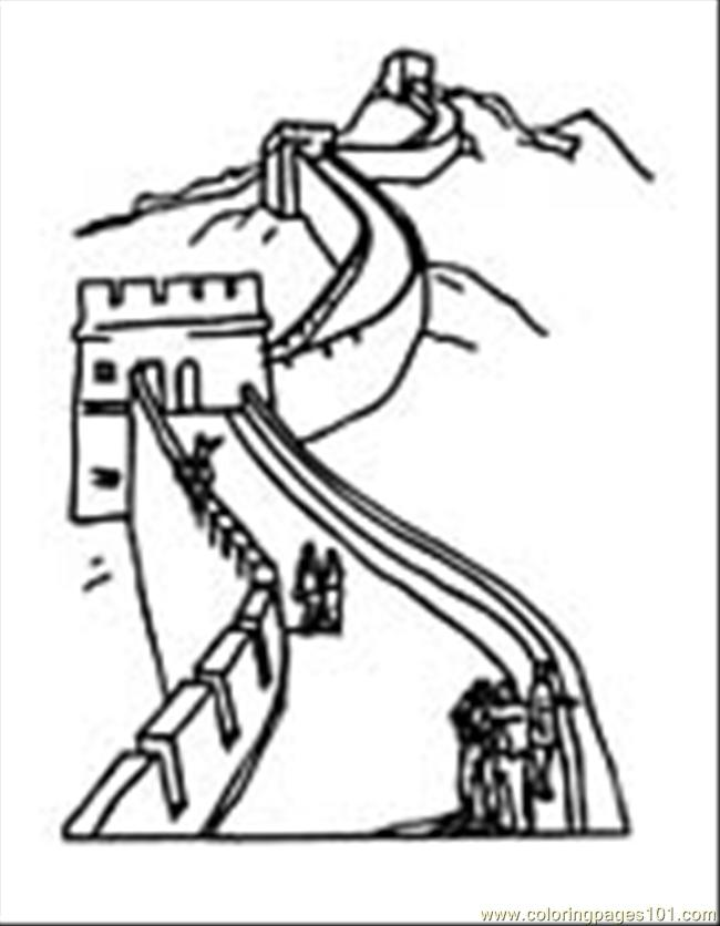 Greatwall01 Coloring Page - Free China Coloring Pages ...