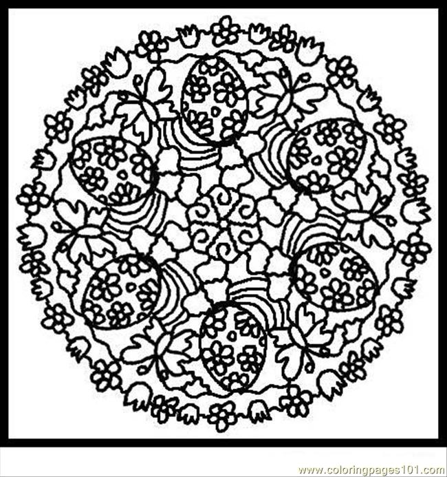 Ndala Coloring Pages Easter 4 Coloring Page