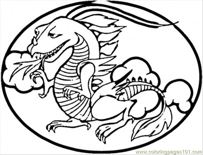 Red Chinese Dragon Coloring Page - Free China Coloring Pages ...