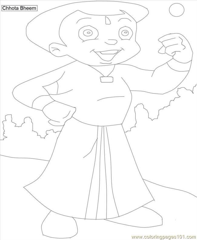 Chota Bheem Coloring Pages 3 Coloring