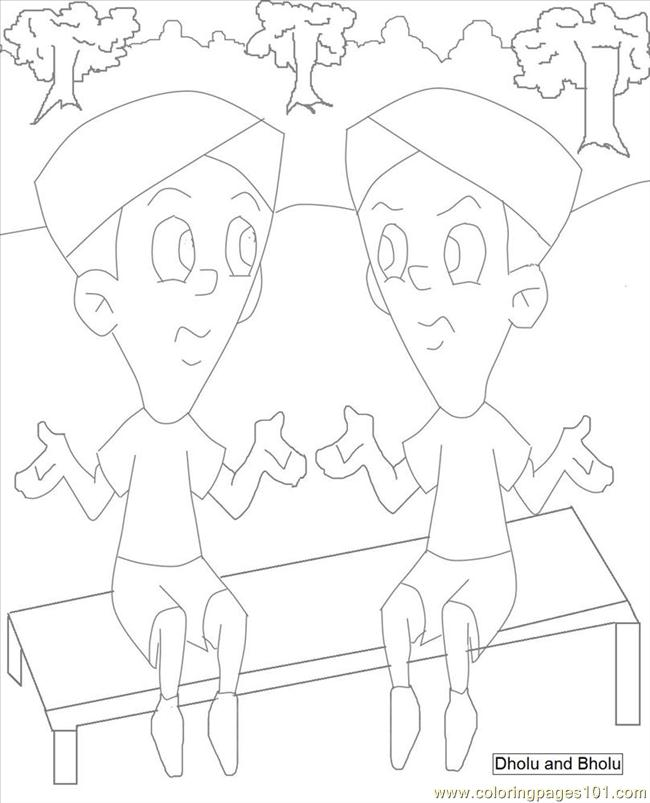 Chhota Bheem Coloring Pages Games. Chota Bheem Coloring Pages 5 Page  Free