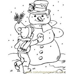 Christmas 14 Free Coloring Page for Kids
