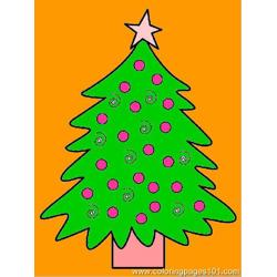 Cristmise Tree Free Coloring Page for Kids