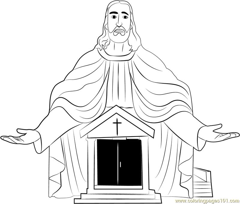 A Catholic Church Coloring Page