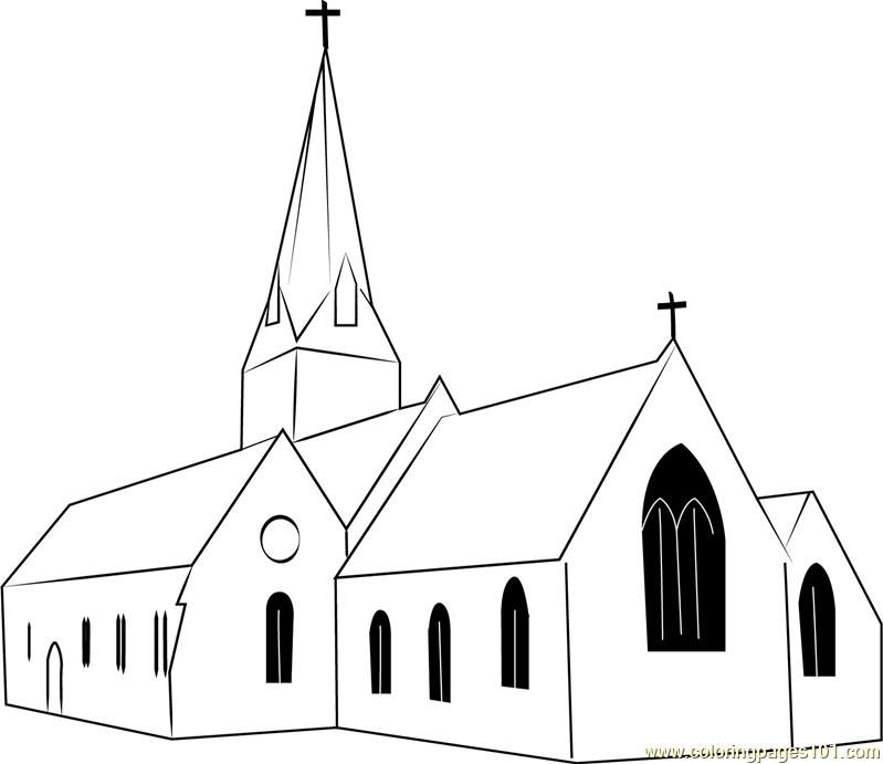Christ Church Coloring Page