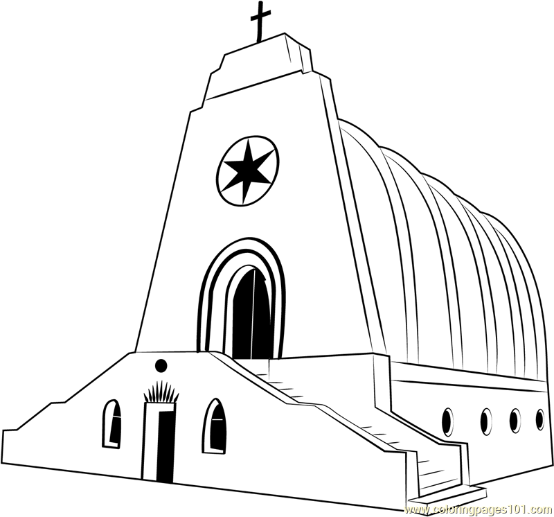 Church Amlwch Anglesey Bunker Coloring Page
