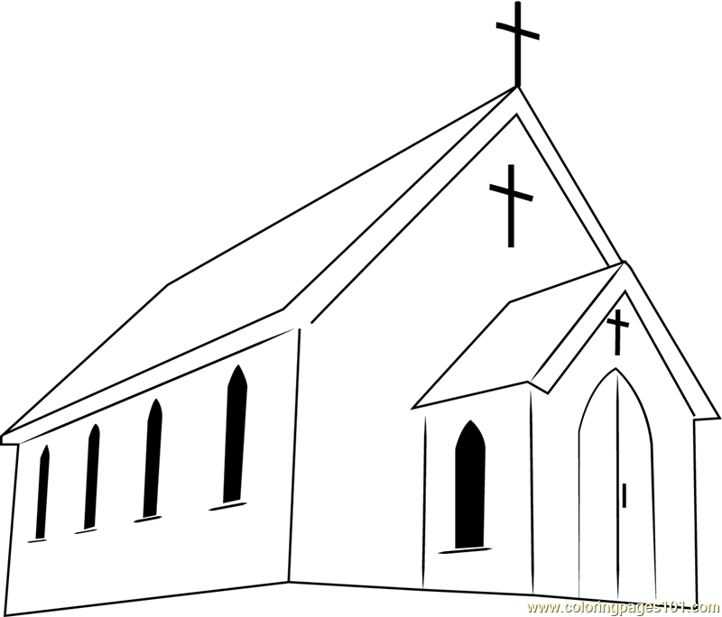 First Presbyterian Church Coloring Page Free Church Coloring Pages