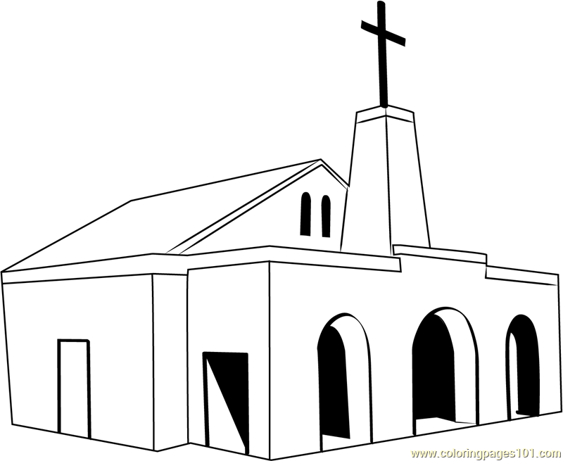 North Rand Methodist church Coloring Page - Free Church Coloring ...