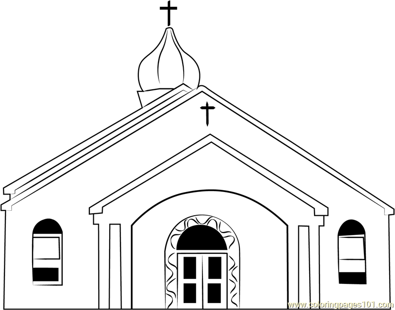 Osterville Baptist Church Coloring Page For Kids - Free Church Printable  Coloring Pages Online For Kids - ColoringPages101.com Coloring Pages For  Kids