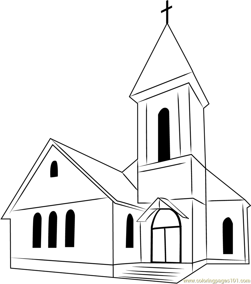 Perfect Church Coloring Page Free Church Coloring Pages