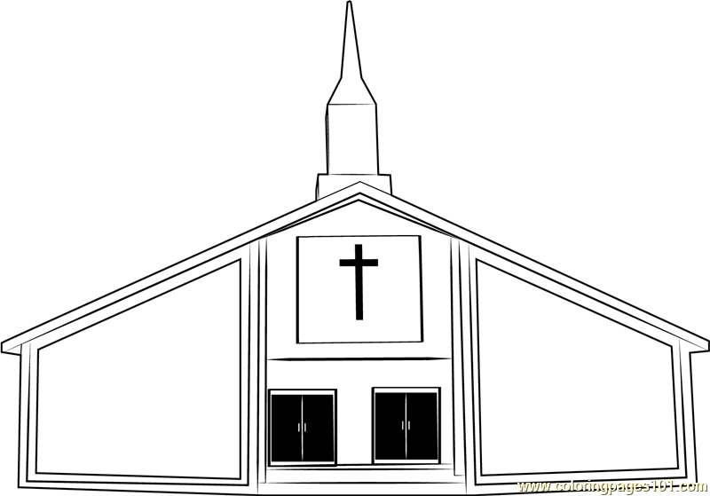 St. Hedwig's Church Coloring Page