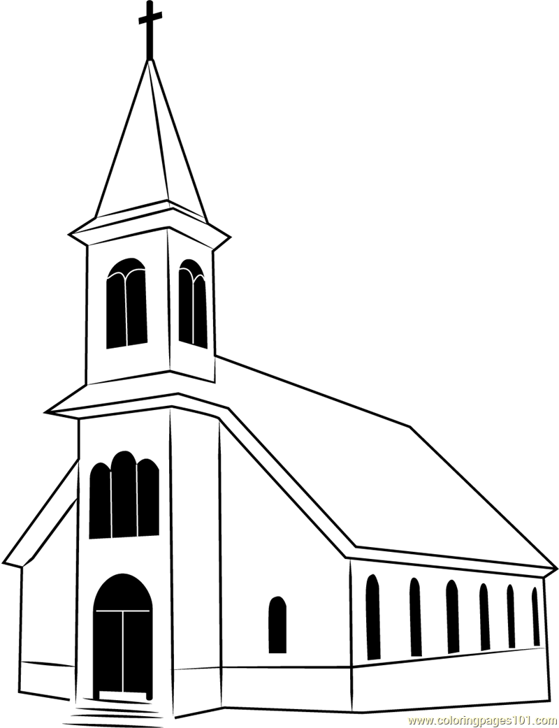 St. Ignatius Church Coloring Page
