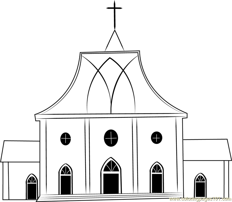 St Luke's United Reformed Church Coloring Page