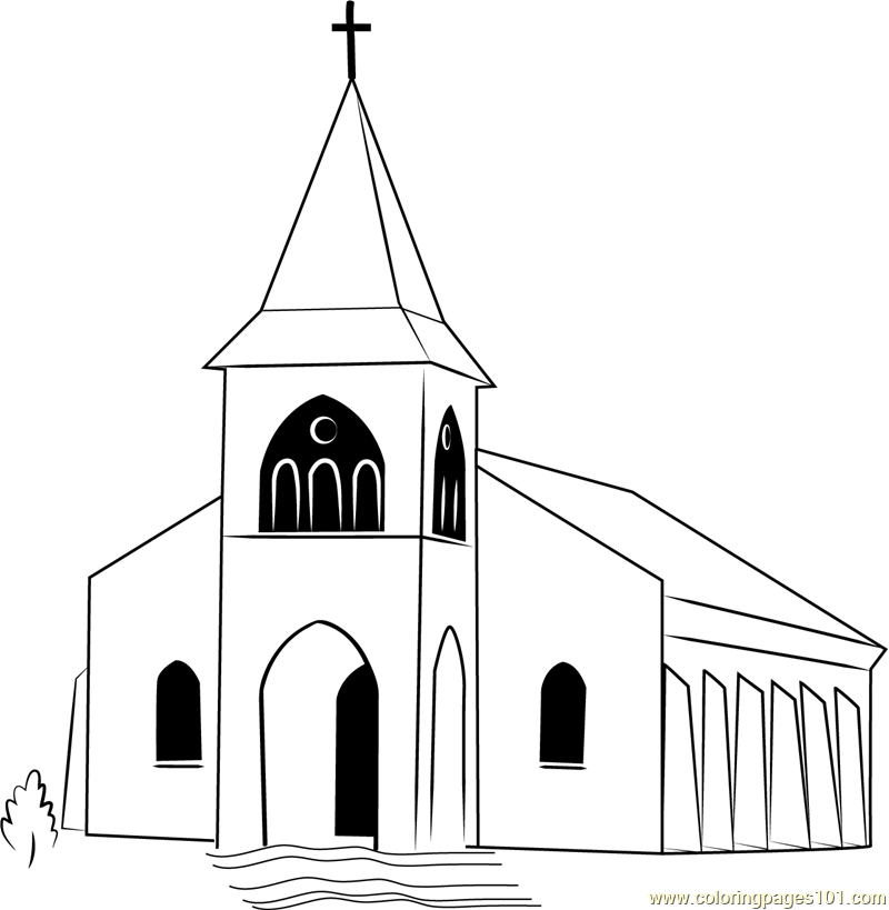 Touaourou Mission Church Coloring Page - Free Church Coloring Pages ...