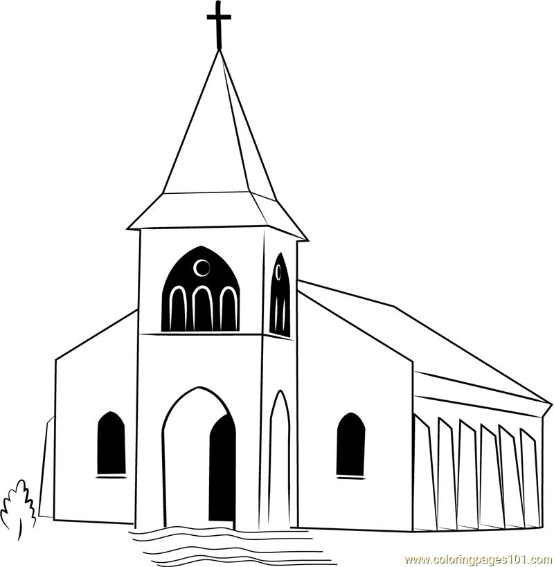 Touaourou Mission Church Coloring Page - Free Church ...
