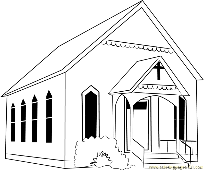 Watauga Presbyterian Church Coloring Page Free Church Coloring