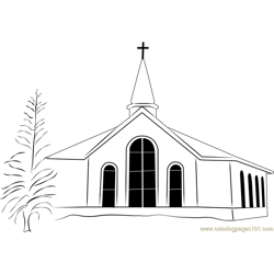 Church Coloring Pages For Kids Download Church Printable Coloring Pages Coloringpages101 Com
