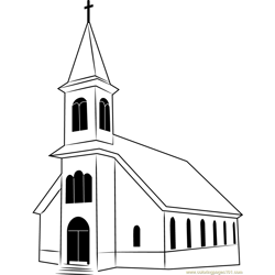 St. Ignatius Church Free Coloring Page for Kids